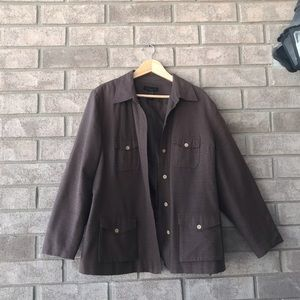 100% Silk brown jacket/blazer